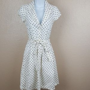 Forever Women's Button Down Dress Size S Polka Dot